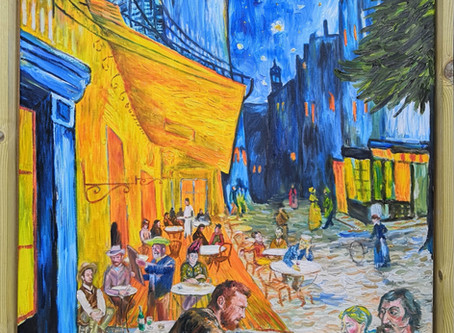 New interpretation of Van Gogh's 'Cafe Terrace at Night' by Cotswold artist