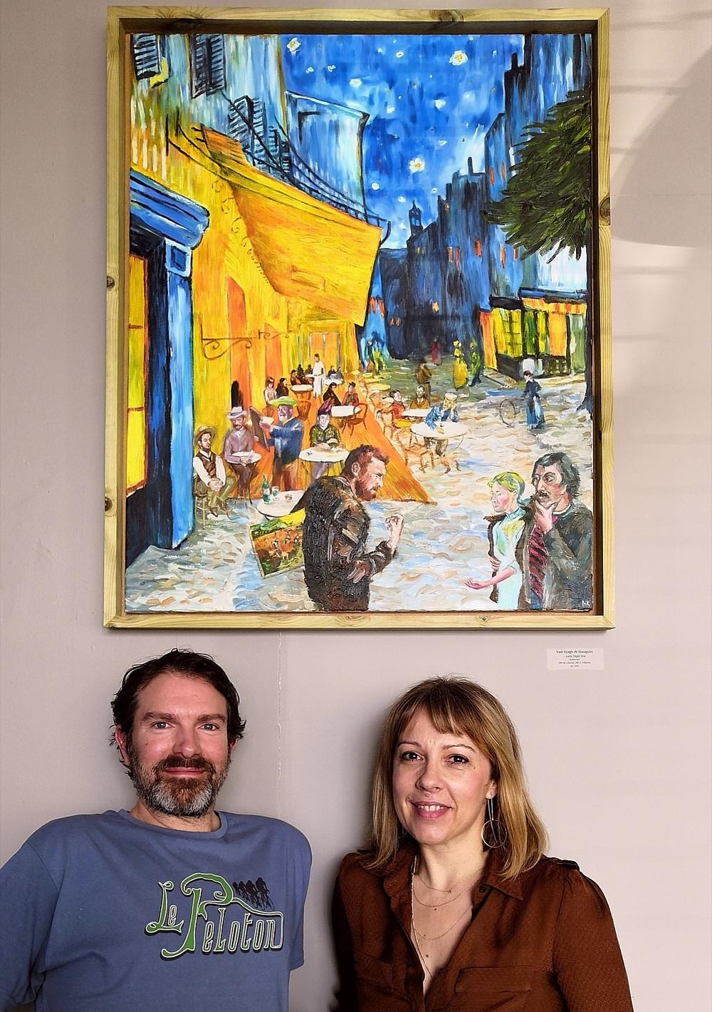 Van Gogh & Gauguin oil painting at Wilks_Bristol