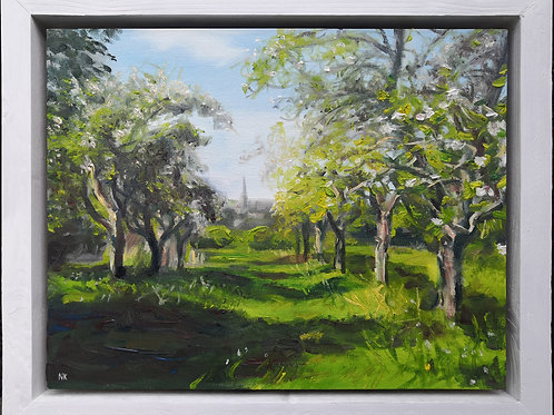 'Apple Orchard, Painswick' Original Oil Painting