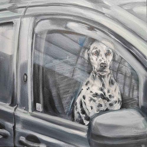 'Who's a Good Boy?' Original Painting