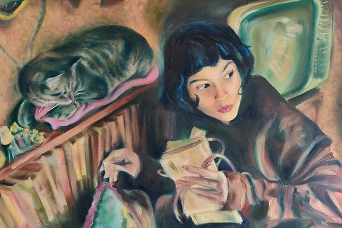 'Amelie's Quest' Original oil painting