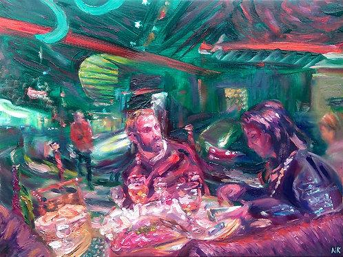 'Long Night Ahead' Original Painting