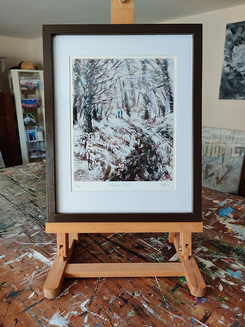 'Winter Trail' Framed, limited edition print