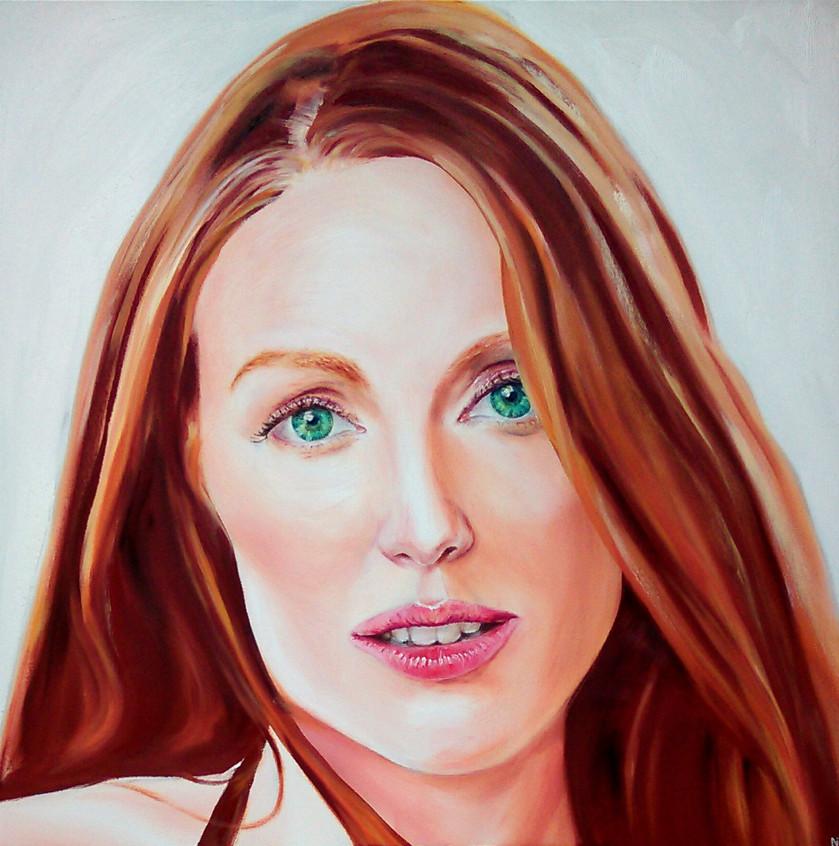 Julianne Moore art portrait