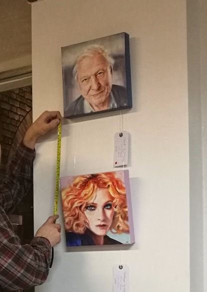 Attenborough and Goldfrapp art portraits