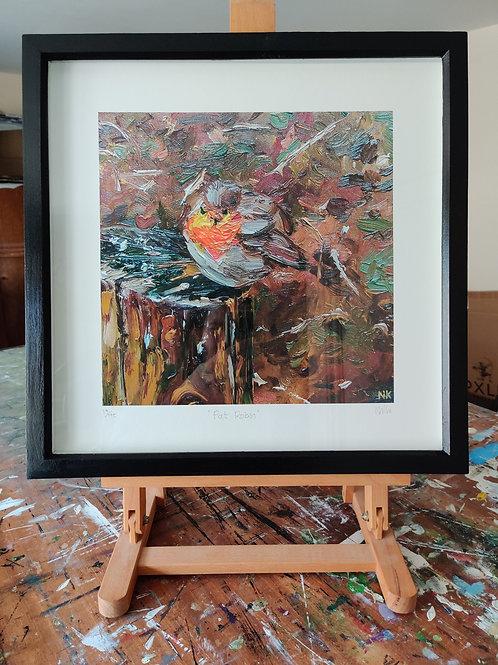 'Fat Robin' Framed, limited edition print