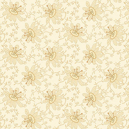 Henry Glass Linen2 Lacy Floral - White Wash