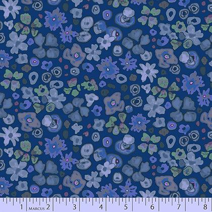 Marcus Fabrics Las Flores Floral - Blue