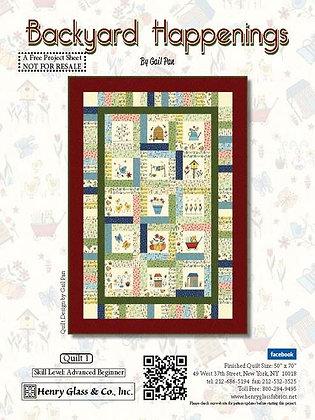 Henry Glass Backyard Happenings Free Panel Quilt Pattern