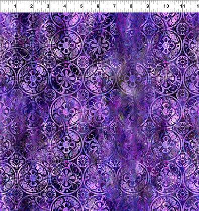 In The Beginning Floragraphix V Medallions - Purple