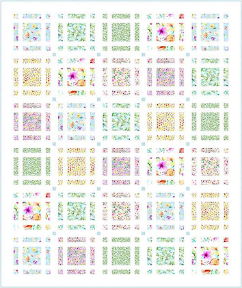 Timeless Treasures Spring Song Woven Baskets Quilt - Free Pattern