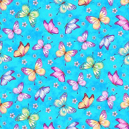 Henry Glass Gossamer Garden Butterflies - Sky