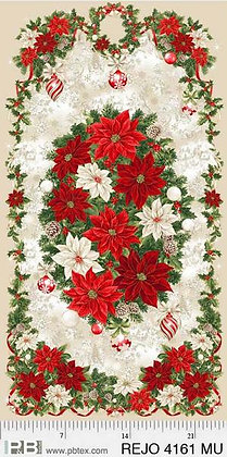 P&B Textiles Rejoice Poinsettia Panel - 24 inches