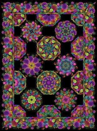 In The Beginning Unusual Garden II Kaleidoscope Quilt Kit