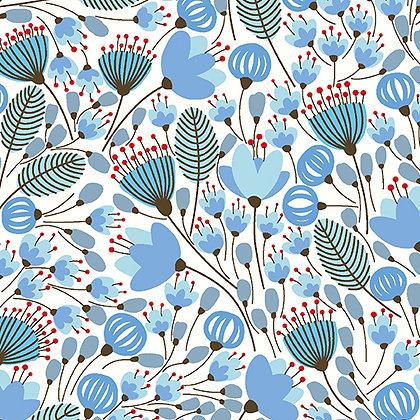 Benartex Morrison Park Master Garden - Sky Blue