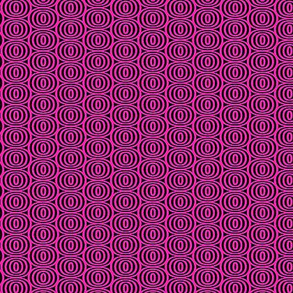 Kanvas Studio Fruit Punch Optic Circles - Black/Pink