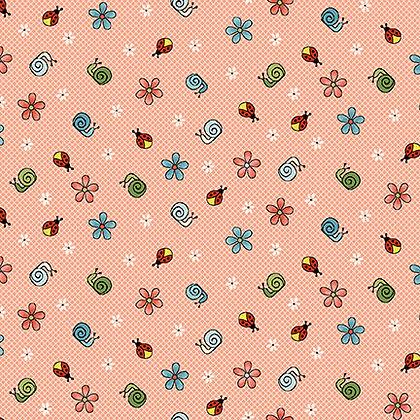 Henry Glass Backyard Happenings Snails - Pink