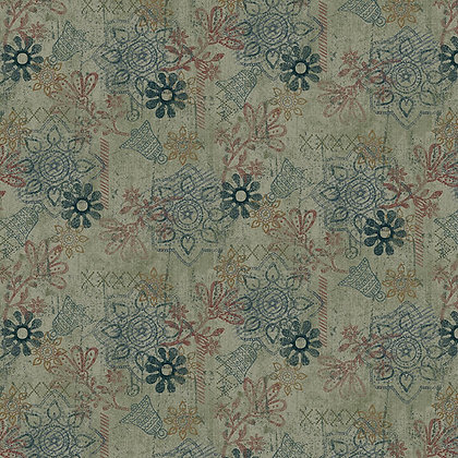 Henry Glass Scrap Happy Mixed Media Solid - Light Teal