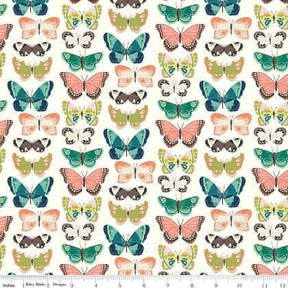 Riley Blake Midsummer Meadows Flutter - Cream
