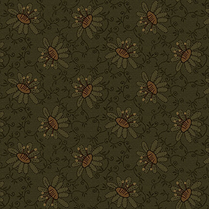 Henry Glass Scrap Happy Lacey Design - Green