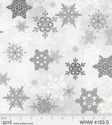 P&B Winter Wonderland Snowflakes - Silver
