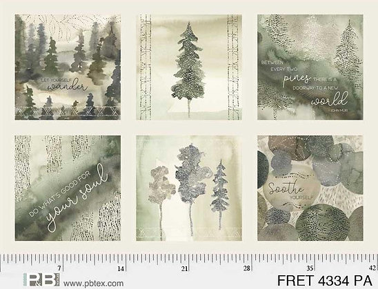 P&B Textiles Forest Retreat Forest Panel - 24 inches