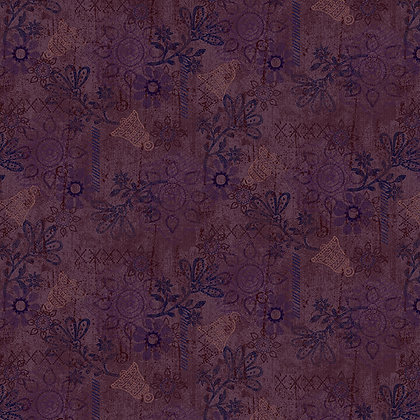 Henry Glass Scrap Happy Mixed Media Solid - Dark Purple
