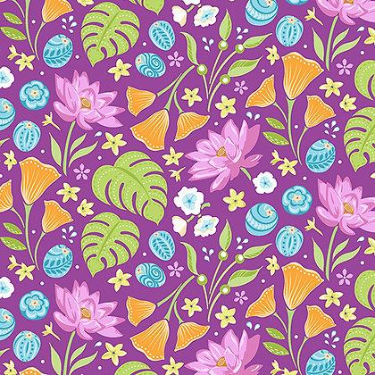 Benartex Crescendo Floral - Plum