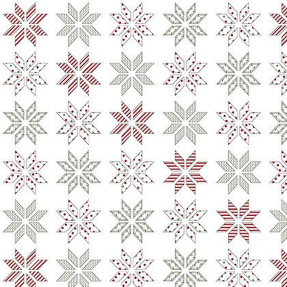 Henry Glass Holly Hill Christmas Lemoyne Star - White