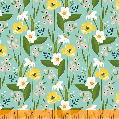 Windham Cora Happy Floral - Aqua