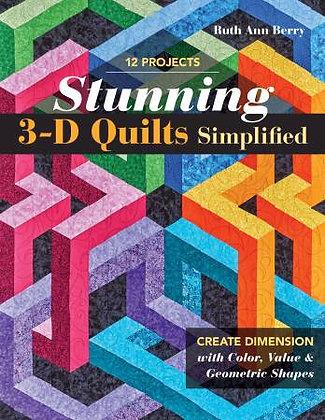 Stunning 3-D Quilts Simplified - Quilt Book