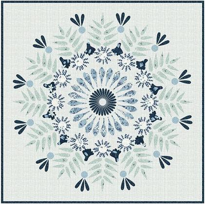 Clothworks Blue Goose Mandala Quilt Kit