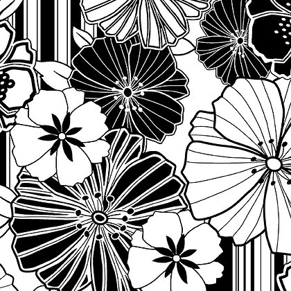 Kanvas Studio Fruit Punch Graphic Poppy - Black/White