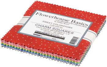 Robert Kaufman Farmhouse Basics 5 inch by 5 inch squares -Sweet Colorstory