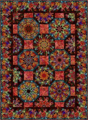 In The Beginning Floragraphix Kaleidescope Quilt Kit - Red