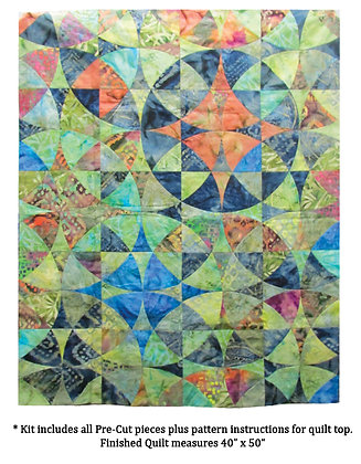 Benartex Bali Print Wheel Of Myst Quilt Kit