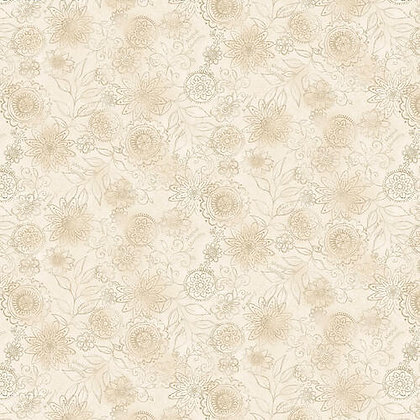 Henry Glass Linen2 Wall Flower - White Wash