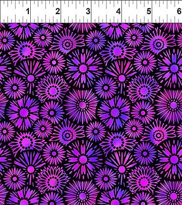 In The Beginning Purple Black Blooms