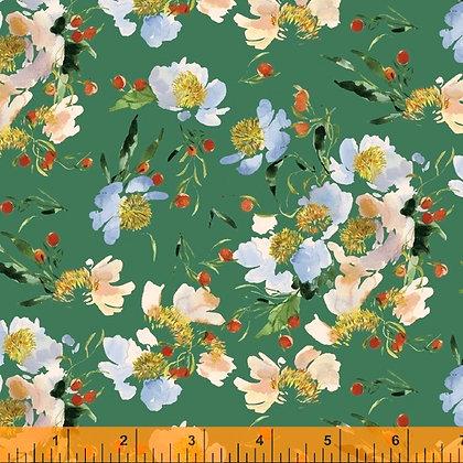 Windham Wildflowers Claire de Lune - Spruce