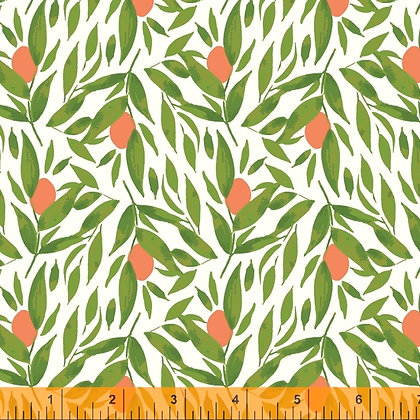 Windham Cora Kumquats - White