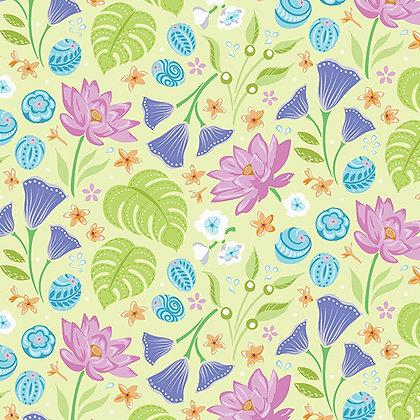 Benartex Crescendo Floral - Lime
