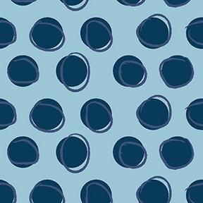Clothworks Blue Goose Eggs - Light Blue