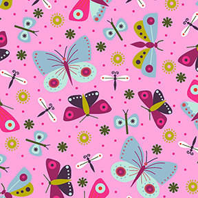 Summer Sampler Butterflies - Pink