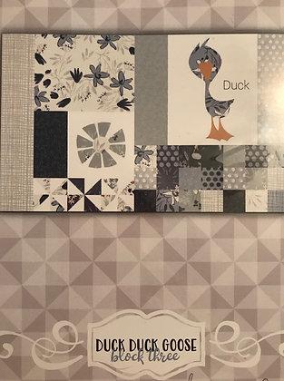Clothworks Blue Goose Duck Duck Goose BOM Quilt Kit - Block Three