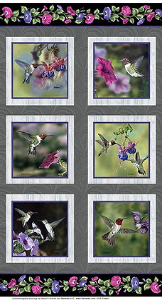 Benartex Hummingbird Song Panel - Multi