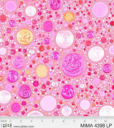 P&B Textiles Mindful Mandalas Large Dots - Light Pink