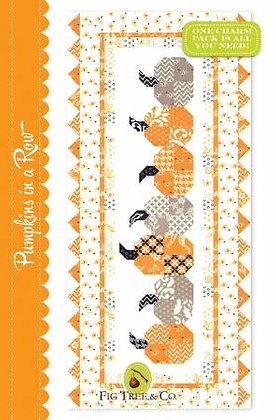 Pumpkins In a Row - PAPER pattern