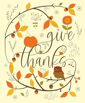 Riley Blake Give Thanks Panel - 36 inches