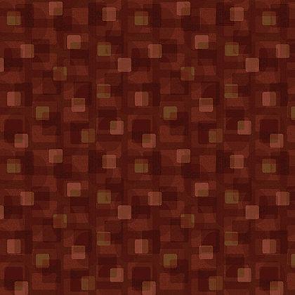 Henry Glass Scrap Happy Square  Textile - Rust
