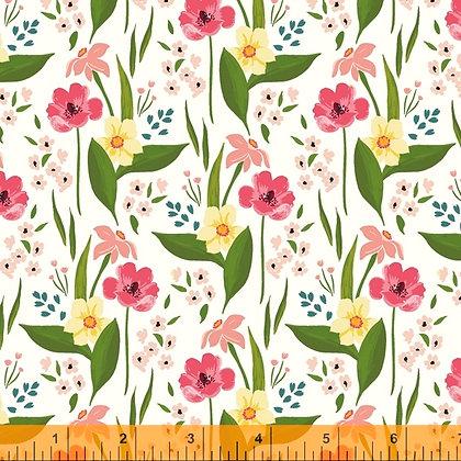 Windham Cora Happy Floral - White